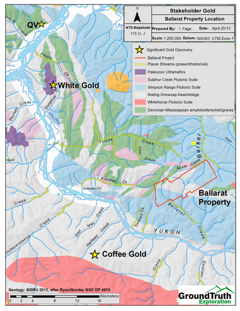 White Gold District, Regional Geology